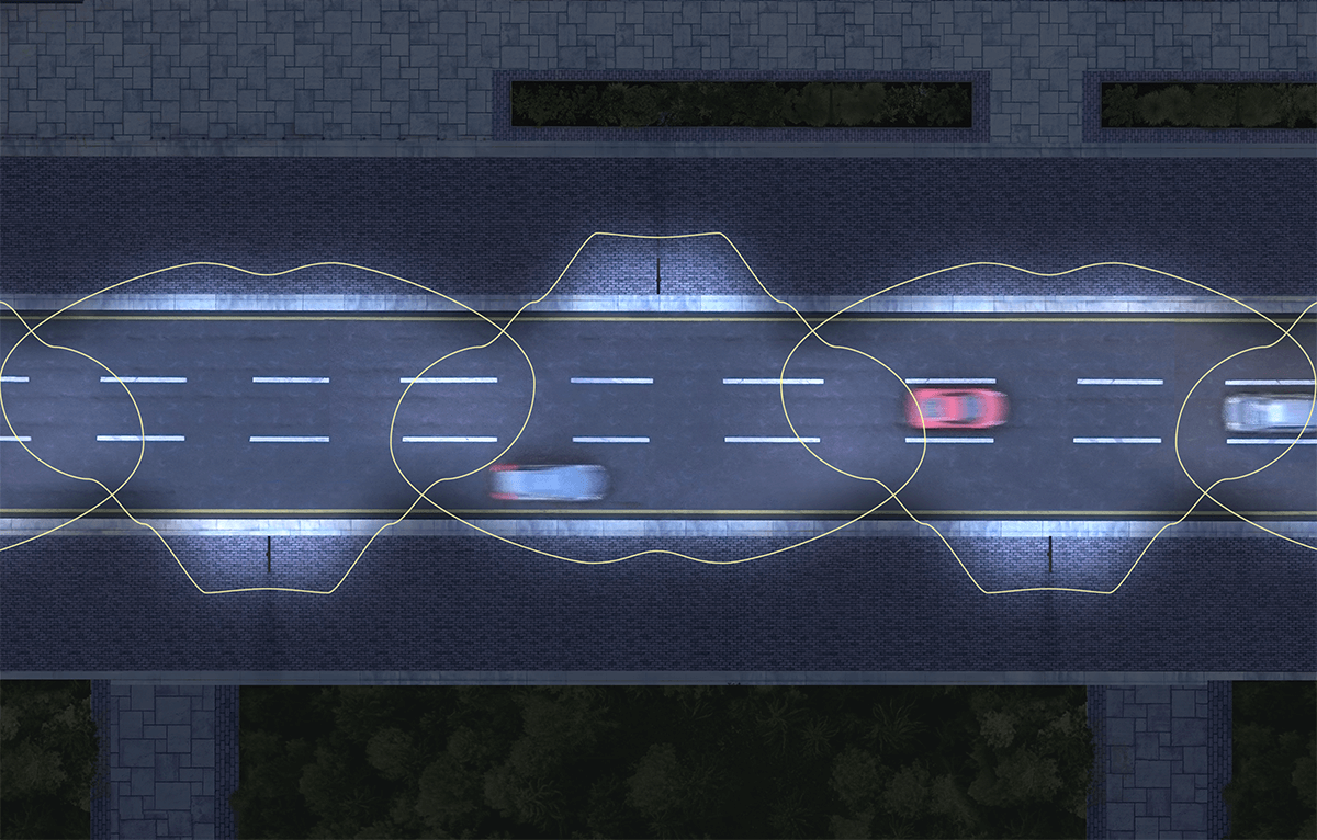 Meant for roadway lighting, general parking, and other areas where a larger area of light is required. It projects light outwards exactly where needed resulting in motorist and pedestrian safety.
